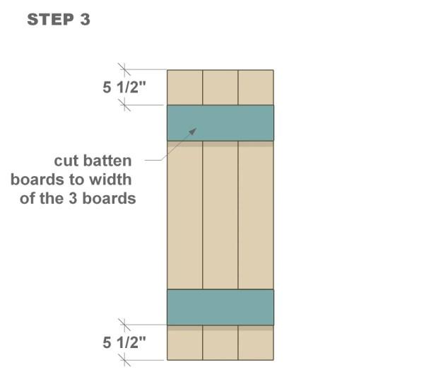 wood shutter tutorial step three