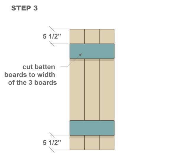 wood shutter tutorial step three