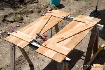 cedar wood DIY shutters