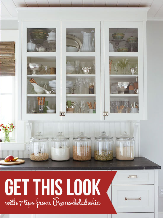 Get This Look - Classic Kitchen Curio - Remodelaholic.com