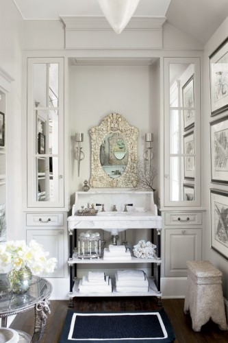 Gwyneth Paltrow's elegant master bath, via Habitually Chic on Remodelaholic.com