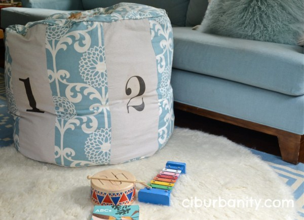 copycat Land of Nod floor cushion, featured on Remodelaholic.com