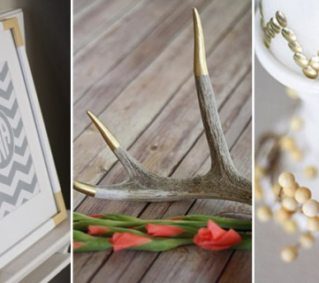 Simple DIY Gold Home Decor Accents