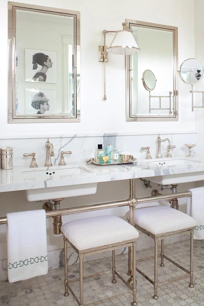 Remodelaholic Elegant Master Bath Remodel With Built In Shelving