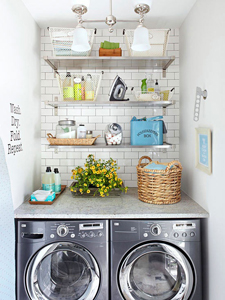 fresh laundry nook