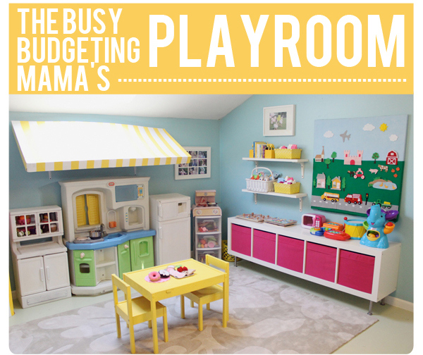 Fun Kids Playroom Busy Budgeting Mama Via Remodelaholic