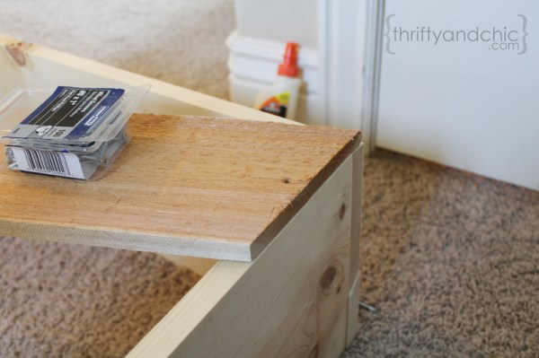 how to build a sofa table, featured on Remodelaholic.com
