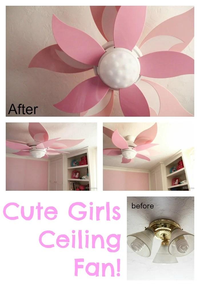 Craftmade Girls Room Ceiling Fan Flower Ceiling Fan