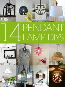 DIY Pendant Lamps via Remodelaholic