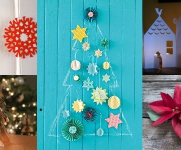 DIY paper christmas decorations on Remodelaholic