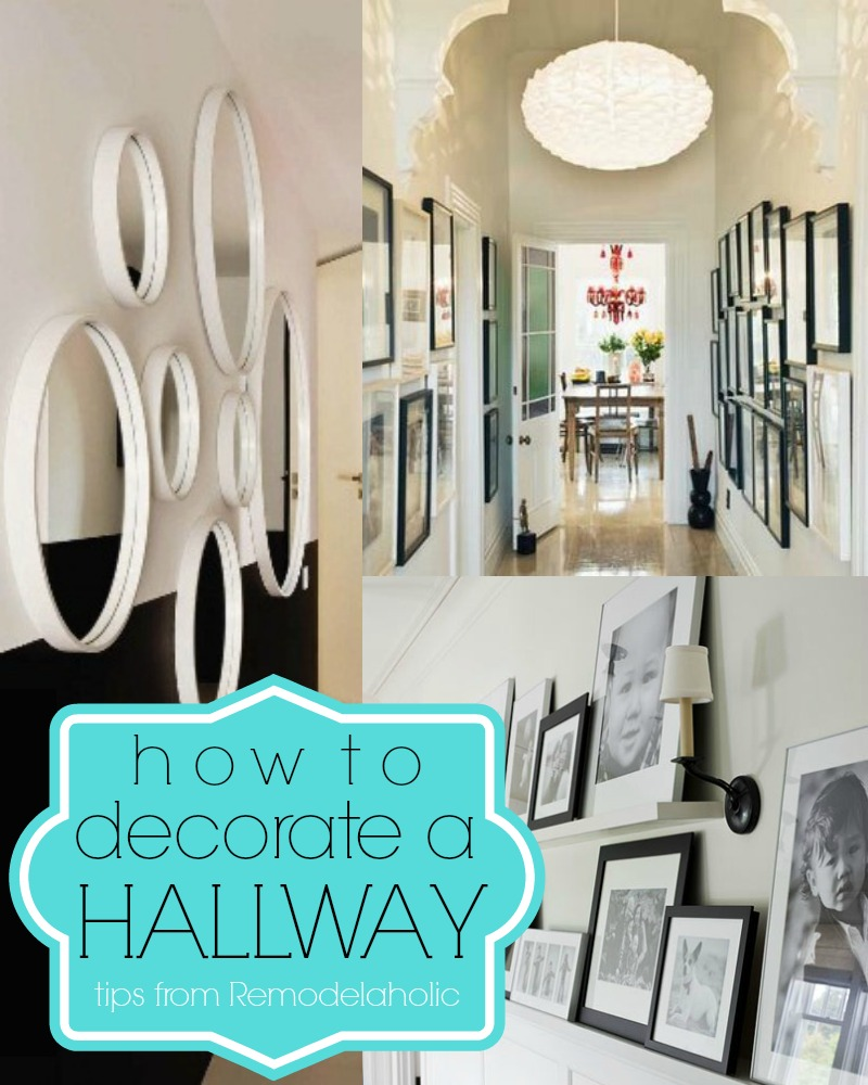 decorations pour le corridor 15 Ways To Decorate A Hallway | Remodelaholic.com #hallway #decorating #tips