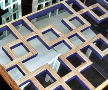 DIY Tutorial: Modern Dining Table with Lattice-Style Square Motif