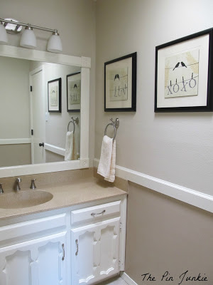 bathroom makeover after, The Pin Junkie featured on Remodelaholic.com