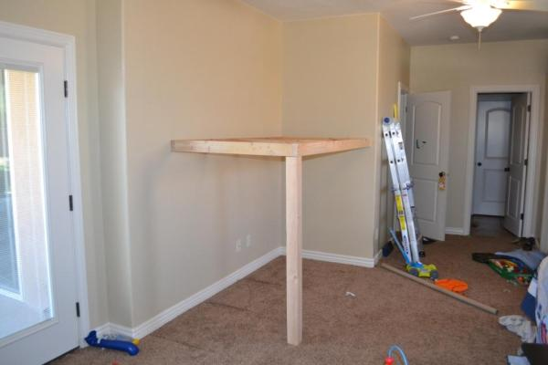 how to build an indoor tree house loft platform frame, I Am Hardware featured on Remodelaholic