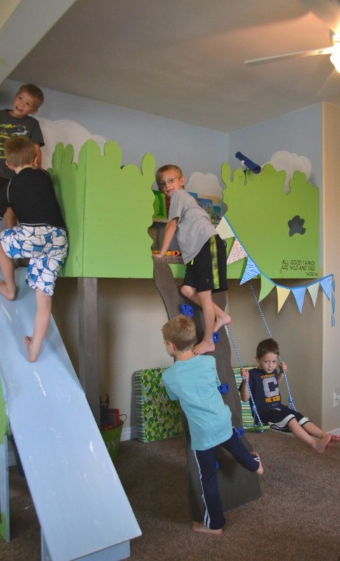 indoor tree house loft - so fun for kids, I Am Hardware featured on Remodelaholic