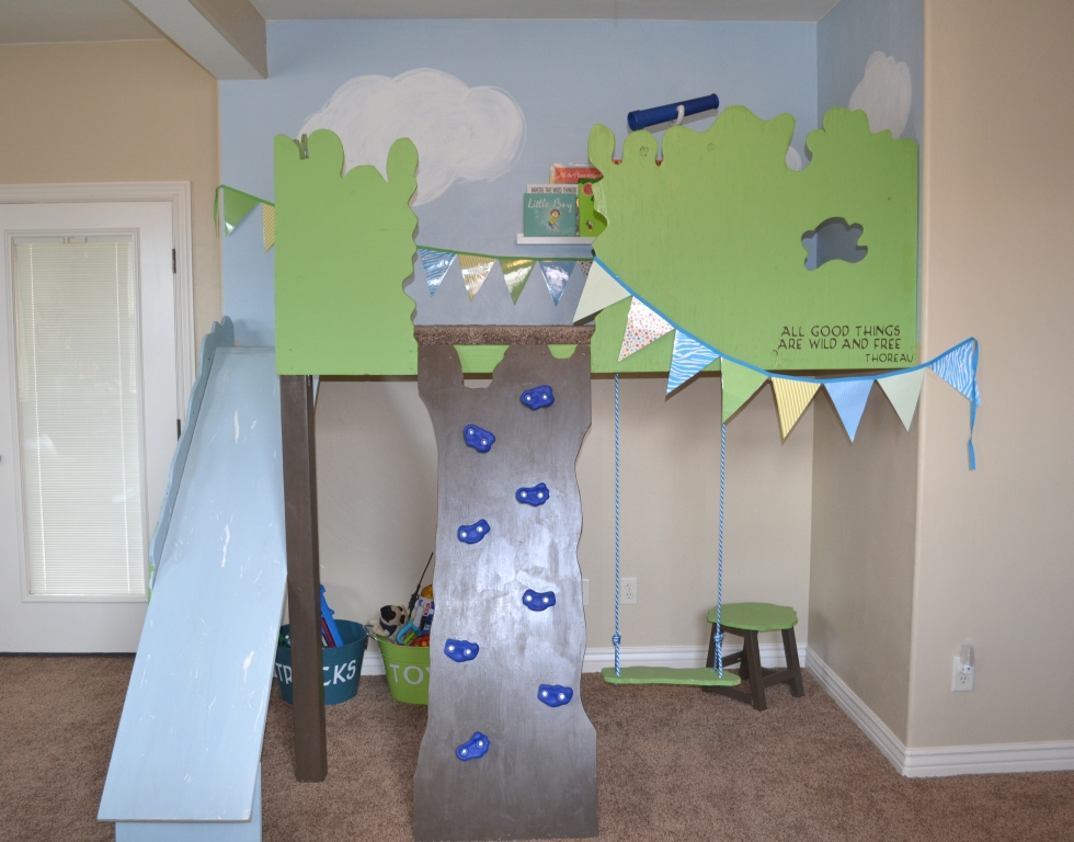 Tutorial: Build an Indoor Tree House - I Am Hardware featured on Remodelaholic.com #playhouse #kids #indoorfun #treehouse