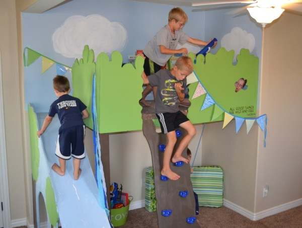 kids indoor tree house loft playhouse, I Am Hardware featured on Remodelaholic
