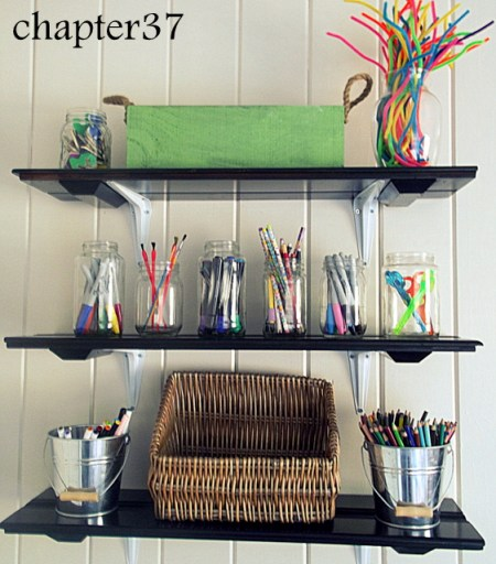 party feature - art room cabinet shelves, Chapter 37