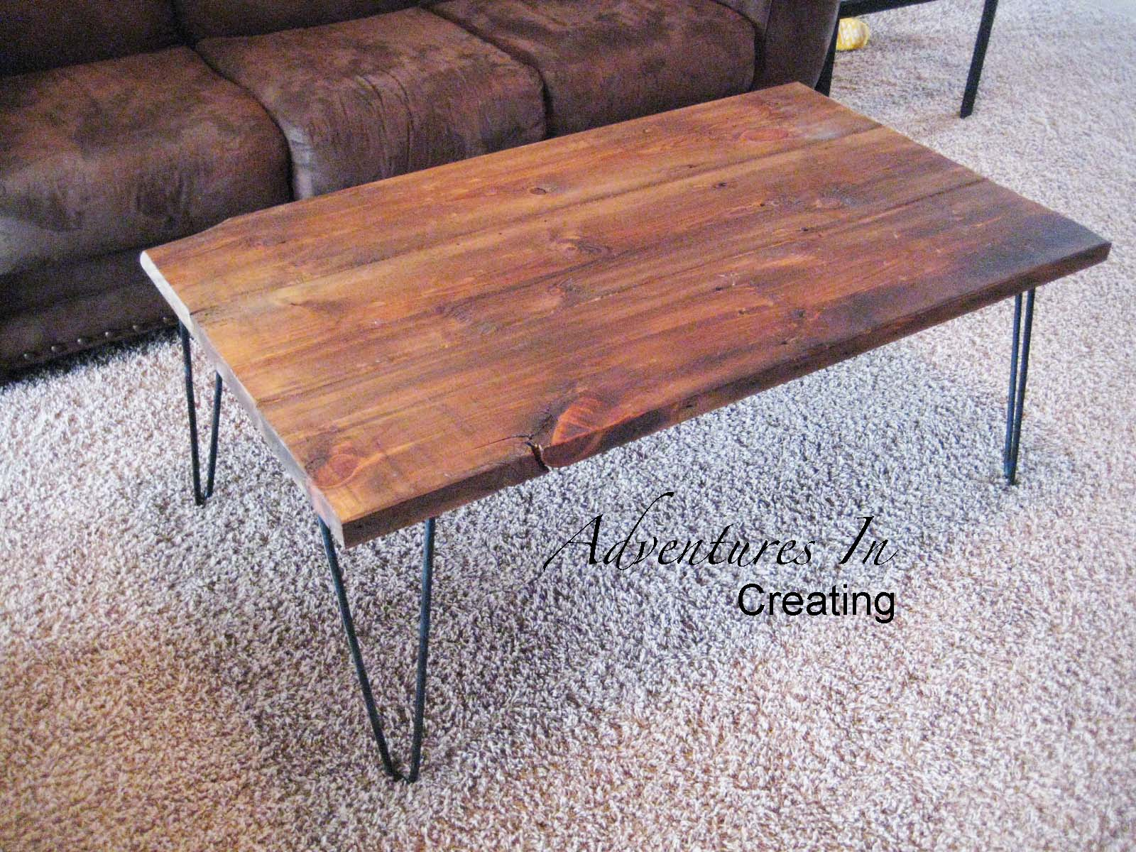 Good Wooden Coffee Table With Hairpin Legs, Adventures In Creating Via  Remodelaholic