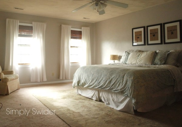 12-6 weekend master bedroom makeover, Simply Swider