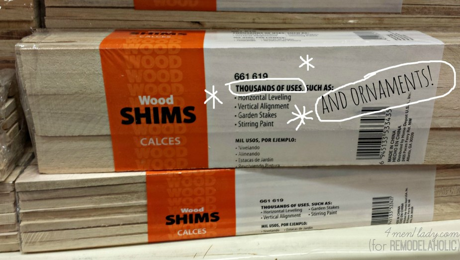 wood shims as a substitute for paint stir sticks  | 4men1lady for Remodelaholic.com