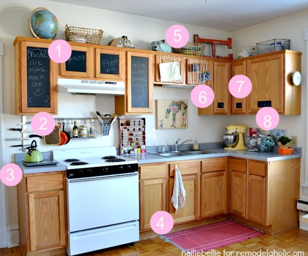 tips and tricks for creating a personal space in a rental kitchen from remodelaholic.com