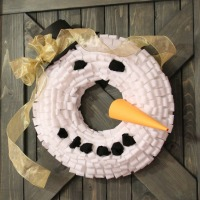 Advent Calendar and Snowman wreath 069