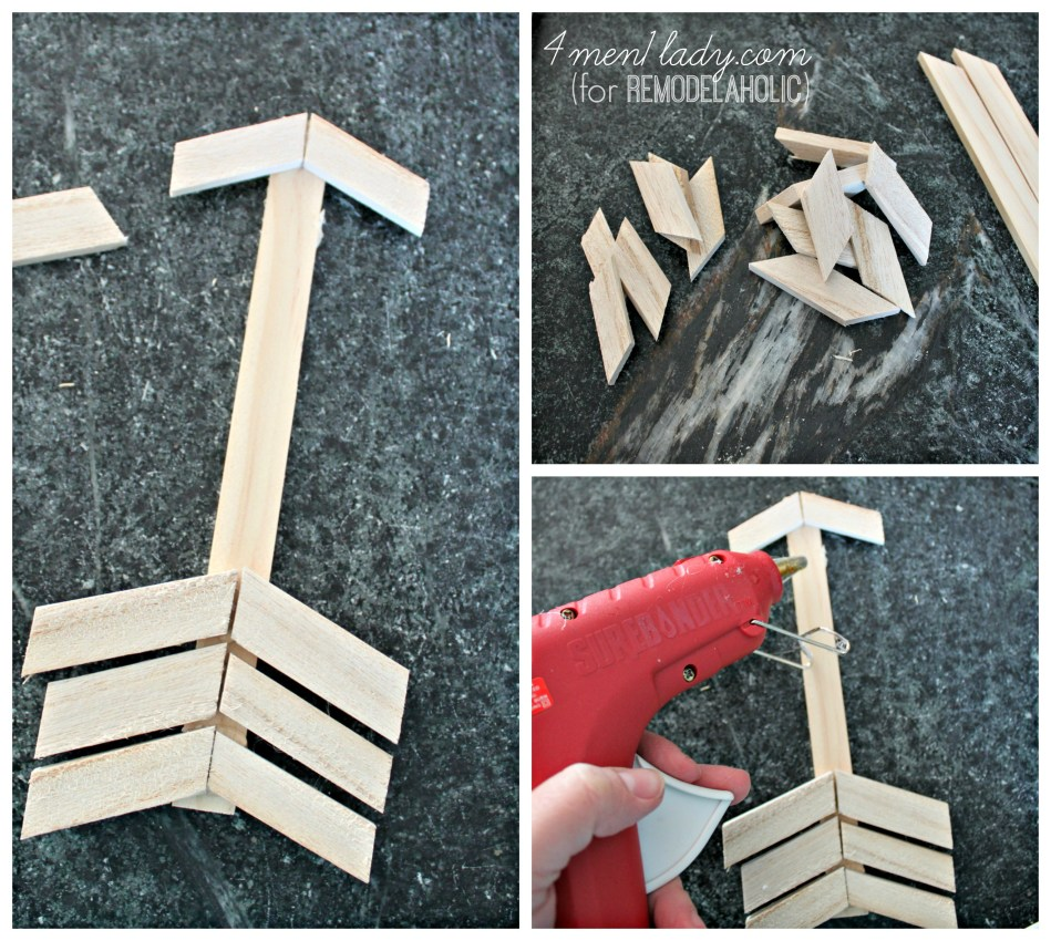 wooden shim arrows  | 4men1lady for Remodelaholic.com