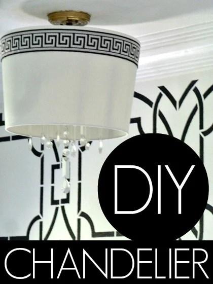 DIY Drum Shade Chandelier | Bliss At Home featured on Remodelaholic.com #lightfixture #chandelier #diy #tutorial