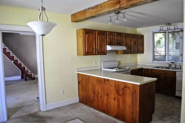 New Englander Kitchen Update - before, SoPo Cottage featured on Remodelaholic