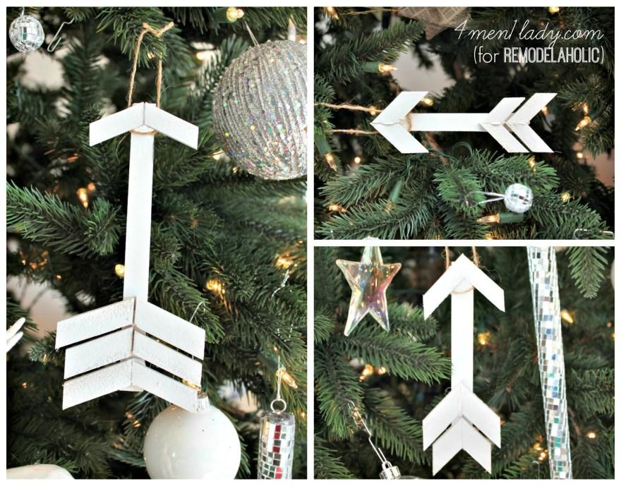 diy wooden arrow tree ornaments | 4men1lady for Remodelaholic.com