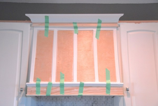 add trim to custom range hood, The Rozy Home featured on Remodelaholic