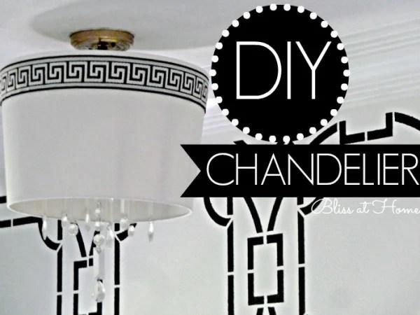 DIY Drum Shade Chandelier   Bliss At Home featured on Remodelaholic.com #lightfixture #chandelier #diy #tutorial