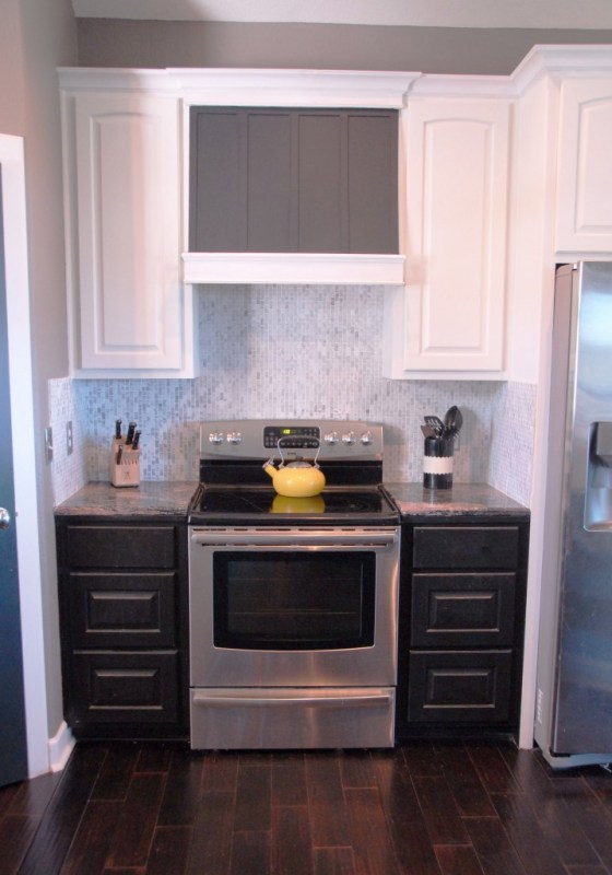 Build a DIY Custom Range Hood for Under $50 | The Rozy Home featured on Remodelaholic.com #kitchen #diy