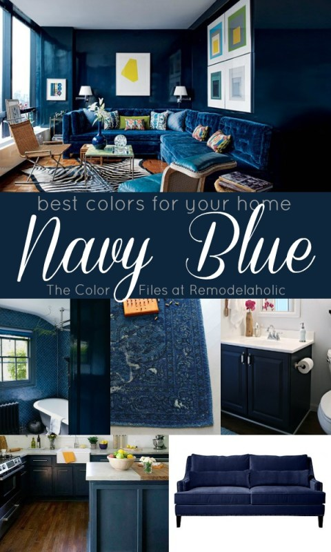 Best Colors For Your Home: Navy Blue via Remodelaholic.com #colorfiles #navyblue #decorating