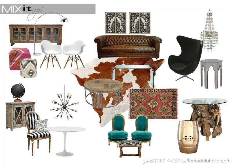 How to mix decor styles on Remodelaholic.com