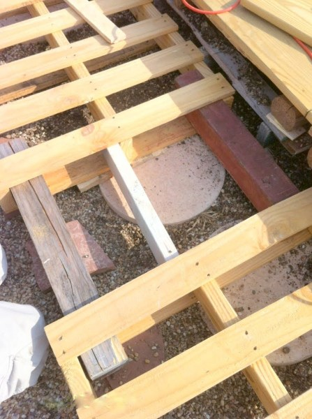 add support boards in spaces of pallet deck, The Second Wind of Texas featured on Remodelaholic