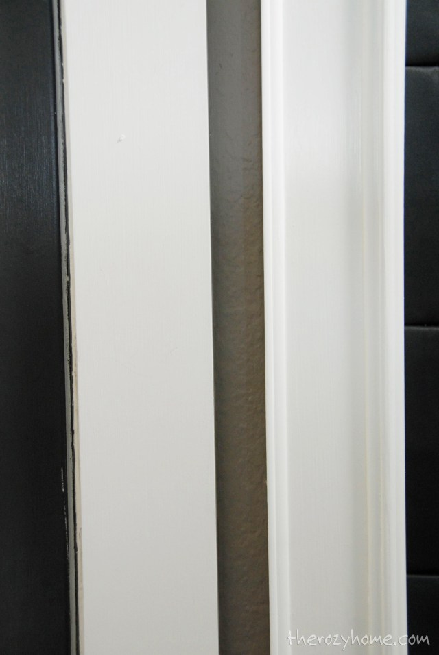 Side by side of the trim before (left) and after (right)