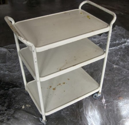 bar cart before makeover, The Palette Muse featured on Remodelaholic