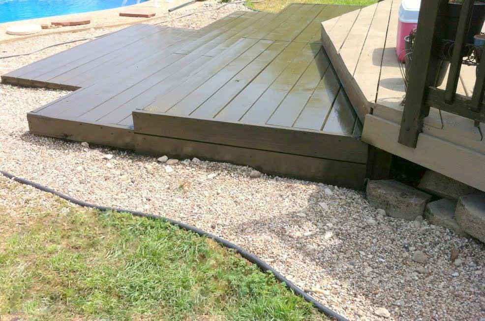 Remodelaholic Build A Wooden Pallet Deck For Under 300