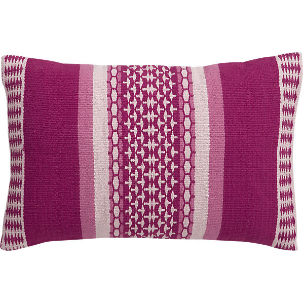 cb2 pillow in fuchsia