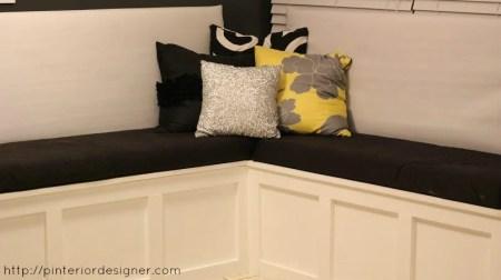 corner banquette bench, Pinterior Designer featured on Remodelaholic