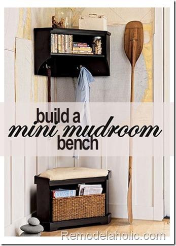 corner mudroom bench building plans, Remodelaholic