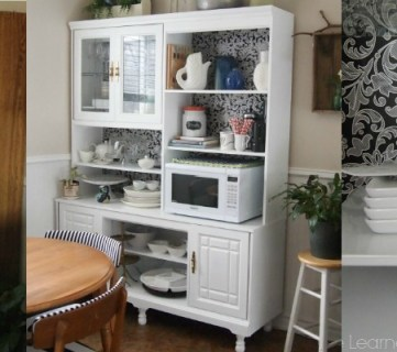 Create a Kitchen Hutch From an 80's Wall Unit