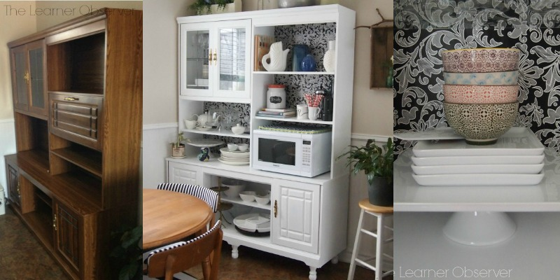Create A Kitchen Hutch From An 80u0027s Wall Unit