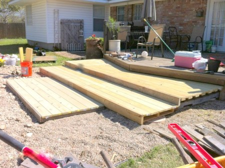 how to build a wooden pallet walk-out patio, The Second Wind of Texas featured on Remodelaholic