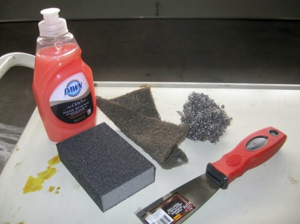 how to clean an old metal cart before painting, The Palette Muse featured on Remodelaholic