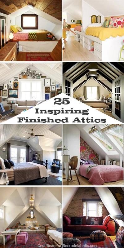 25 Inspiring Finished Attics via Remodelaholic.com #remodel #attic & Remodelaholic | 25 Inspiring Finished Attics