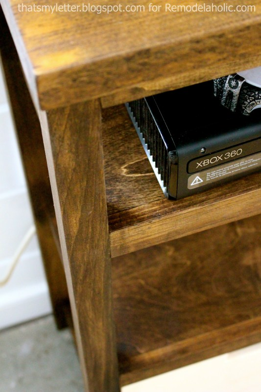 open media shelf for gaming console