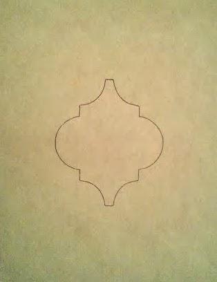 moroccan trellis quatrefoil lattice template stencil, The Palette Muse featured on Remodelaholic
